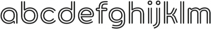 Torus Biline SemiBold otf (600) Font LOWERCASE