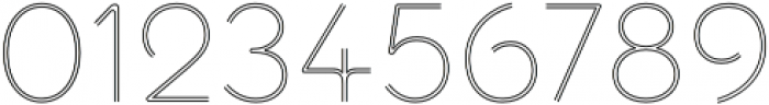Torus Biline Thin otf (100) Font OTHER CHARS