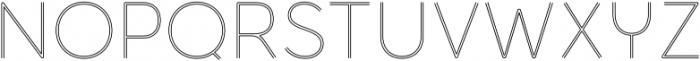 Torus Biline Thin otf (100) Font UPPERCASE