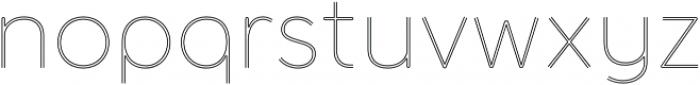 Torus Biline Thin otf (100) Font LOWERCASE
