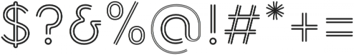 Torus Biline otf (400) Font OTHER CHARS