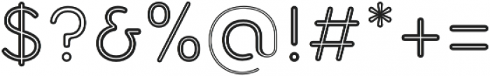 Torus Inline otf (400) Font OTHER CHARS