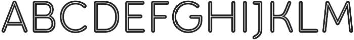 Torus Inline otf (400) Font UPPERCASE