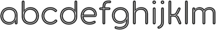 Torus Inline otf (400) Font LOWERCASE