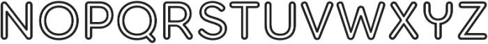 Torus Outline SemiBold otf (600) Font UPPERCASE