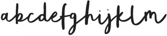 Totally Terrific Typeface Regular otf (400) Font LOWERCASE
