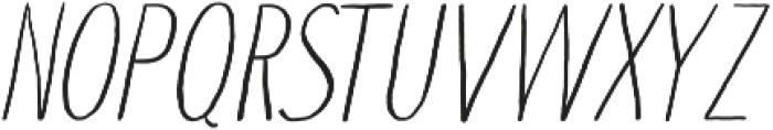 Touch Tone Light Italic otf (300) Font UPPERCASE