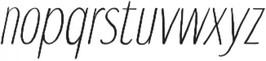 Touch Tone Light Italic otf (300) Font LOWERCASE