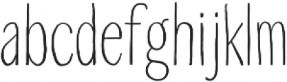 Touch Tone Light otf (300) Font LOWERCASE