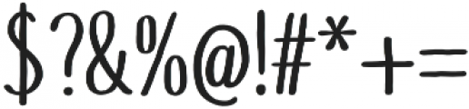 Touch Tone Medium otf (500) Font OTHER CHARS