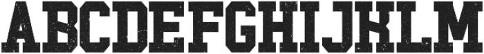 Touchdown Font otf (400) Font UPPERCASE