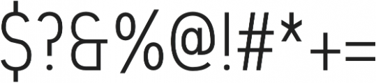 Touchee otf (400) Font OTHER CHARS