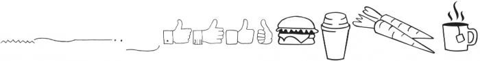 Tout Restaurant Icons otf (400) Font UPPERCASE