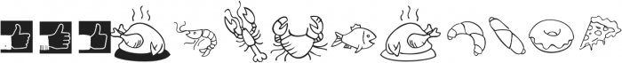 Tout Restaurant Icons otf (400) Font LOWERCASE