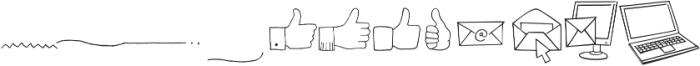 Tout Web Icons otf (400) Font UPPERCASE