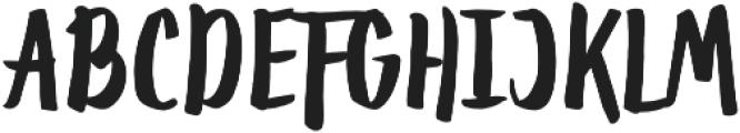 Toxa Regular otf (400) Font UPPERCASE