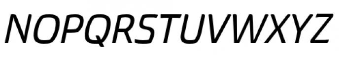 Torcao Extended Demi Italic Font UPPERCASE