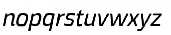 Torcao Extended Demi Italic Font LOWERCASE