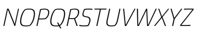 Torcao Extended Light Italic Font UPPERCASE