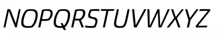 Torcao Extended Medium Italic Font UPPERCASE