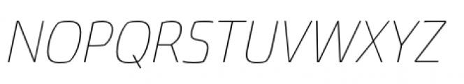 Torcao Extended Thin Italic Font UPPERCASE