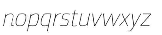 Torcao Extended Thin Italic Font LOWERCASE