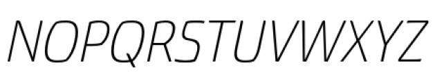 Torcao Normal Light Italic Font UPPERCASE