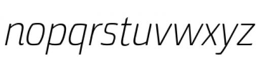 Torcao Normal Light Italic Font LOWERCASE