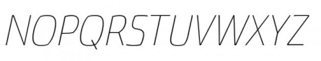 Torcao Normal Thin Italic Font UPPERCASE