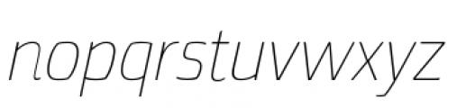 Torcao Normal Thin Italic Font LOWERCASE