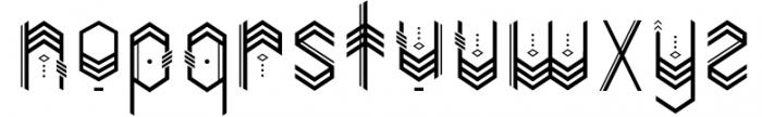 Tomahawk Font LOWERCASE