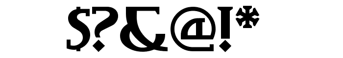 TobaccoRoadNF Font OTHER CHARS