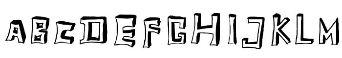 TobyFont-Emptyreduced Font UPPERCASE