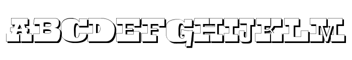 Toeris Shade Font UPPERCASE