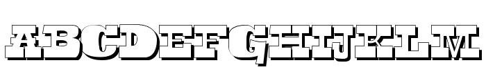 Toeris Shade Font LOWERCASE