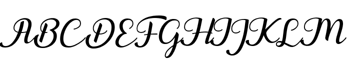 Togetha Font UPPERCASE