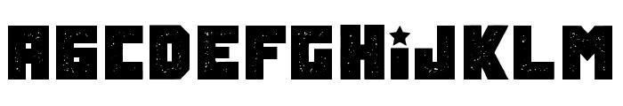 Tokarev Grunged Regular Font UPPERCASE