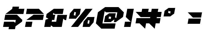 Tokyo Drifter Expanded Font OTHER CHARS
