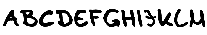 Tom Kaulitz's Handwriting Font UPPERCASE