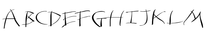 Tomahawked-Regular Font UPPERCASE