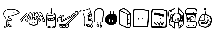 Tombots Font LOWERCASE