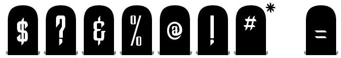 Tombstone Regular Font OTHER CHARS