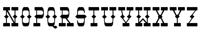 Tombstone Font UPPERCASE