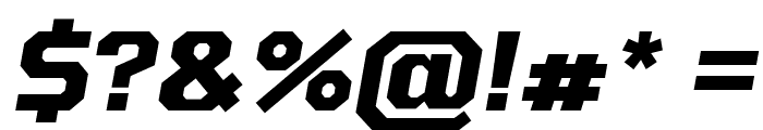 Tomorrow Bold Italic Font OTHER CHARS