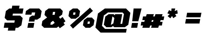 Tomorrow ExtraBold Italic Font OTHER CHARS