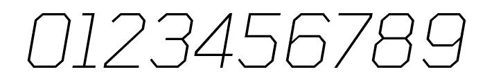 Tomorrow ExtraLight Italic Font OTHER CHARS