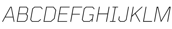 Tomorrow ExtraLight Italic Font UPPERCASE