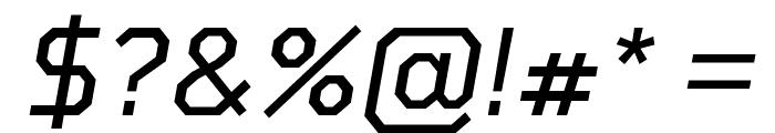 Tomorrow Italic Font OTHER CHARS
