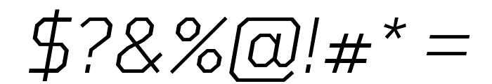 Tomorrow Light Italic Font OTHER CHARS