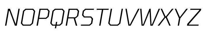 Tomorrow Light Italic Font UPPERCASE